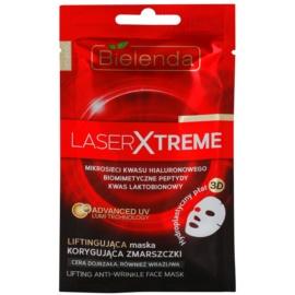 Bielenda Laser Xtreme máscara em folha com efeito reafirmante