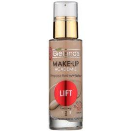 Bielenda Make-Up Academie Lift fond de teint hydratant pour raffermir la peau teinte Beige 30 ml