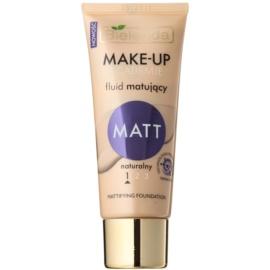 Bielenda Make-Up Academie Matt fond de teint couvrant finition mate teinte 1 Natural 30 g
