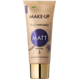 Bielenda Make-Up Academie Matt fond de teint couvrant finition mate teinte 2 Beige 30 g