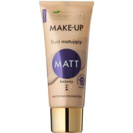 Bielenda Make-Up Academie Matt fond de ten mat pe acoperire maxima culoare 2 Beige 30 g