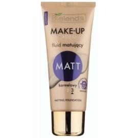 Bielenda Make-Up Academie Matt krycí make-up pro matný vzhled odstín 3 Caramel 30 g