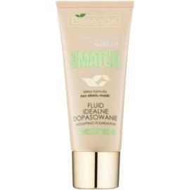 Bielenda Total Look Make-up Nude Match Make-up – Fluid zum vereinheitlichen der Hauttöne Farbton Sunny Beige 03 30 g