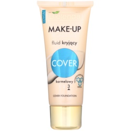 Bielenda Make-Up Academie Cover fond de teint pour peaux à imperfections teinte 3 Caramel 30 g