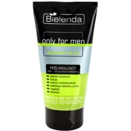 Bielenda Only for Men Super Mat Reinigungsgel mit Peelingwirkung für fettige Haut  150 g