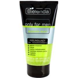 Bielenda Only for Men Super Mat gel exfoliant de curatare pentru ten gras  150 g