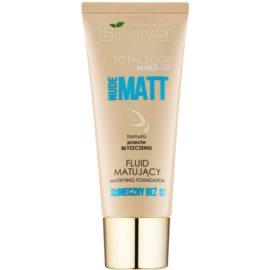 Bielenda Total Look Make-up Nude Matt fond de teint fluide effet mat teinte Sunny Beige 03 30 g