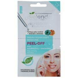 Bielenda Professional Formula Peel-off Gelgesichtsmaske zur Porenverfeinerung und für ein mattes Aussehen der Haut  2 x 5 ml