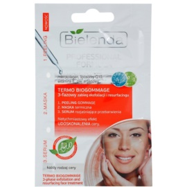 Bielenda Professional Formula peeling, serum, maska do skóry z niedoskonałościami  3 x 3 g