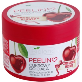 Bielenda Sensual Cherry tělový peeling s cukrem  200 g