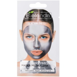 Bielenda Metallic Masks Silver Detox Entgiftende Reinigungsmaske für fettige und Mischhaut  8 g