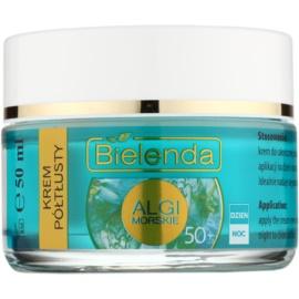 Bielenda Sea Algae Semi-Rich nährende Anti-Falten Creme 50+  50 ml