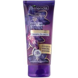 Bielenda Your Care Frangipani & Royal Jelly tělový peeling s cukrem pro hydrataci a vypnutí pokožky  200 g