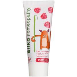 Bilka Homeopathy Natural Kinderzahnpasta Geschmack Raspberry (6+ Years Old, Mint Free, Paraban Free, Sugar Free) 50 ml