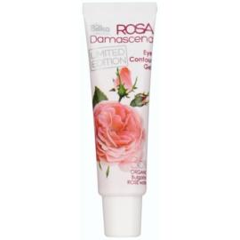 Bilka Rosa Damascena glättendes und straffendes Gel für die Augen mit Rosenwasser  25 ml