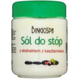 BingoSpa Chestnut kúpeľová soľ na nohy so sklonom k opuchom a kŕčovým žilám  550 g