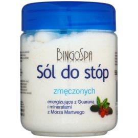 BingoSpa Guarana & Dead Sea Minerals soľ do kúpeľa pre unavené nohy  550 g