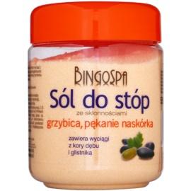 BingoSpa Oak Bark Badesalz für Füße mit Neigung zu Mykose und rissiger Haut   550 g