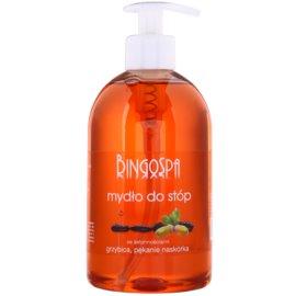 BingoSpa Oak Bark Flüssigseife für Füße mit Neigung zu Fußpilz und rissiger Haut  500 ml