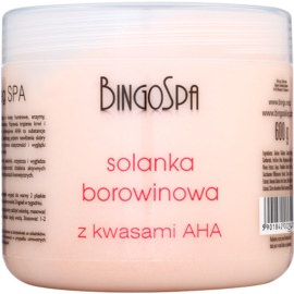 BingoSpa Peat jemná sůl do koupele s A.H.A. (Alpha Hydroxy Acids)  600 g