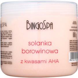 BingoSpa Peat jemná sůl do koupele s A.H.A. (Alpha Hydroxy Acids)  600 g