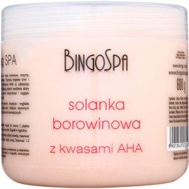 BingoSpa Peat finom fürdősó A.H.A.-val (Alpha Hydroxy Acids)  600 g