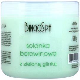 BingoSpa Peat делікатна сіль для ванни з зеленою глиною  600 гр