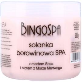 BingoSpa Peat нежна сол за вана сс масло от шеа и кал от Мъртво море  600 гр.