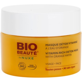 Bio Beauté by Nuxe Masks and Scrubs vitaminska razstrupljevalna maska s pomarančno vodo  50 ml