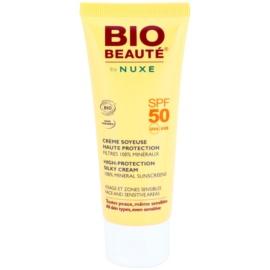 Bio Beauté by Nuxe Sun Care ásványi védőkrém arcra és érzékeny területekre SPF 50  50 ml