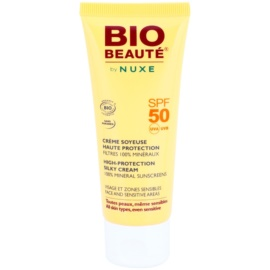 Bio Beauté by Nuxe Sun Care crema de minerale pentru fata si zone sensibile SPF 50  50 ml