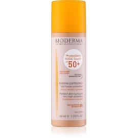 Bioderma Photoderm Nude Touch защитен тониращ флуид за смесена към мазна кожа на лицето SPF 50+ цвят Light 40 мл.