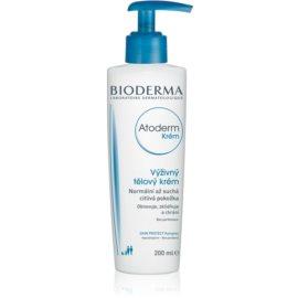 Bioderma Atoderm Voedende Bodycrème voor Normale tot Droge Gevoelige Huid  Parfumvrij  200 ml