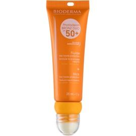 Bioderma Photoderm Bronz fluid protector pentru față și balsam de buze SPF 50+ 20 ml + 2 g