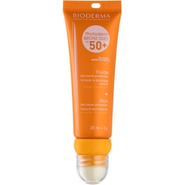Bioderma Photoderm Bronz захисний флюїд для обличчя та бальзам для губ SPF 50+ 20 ml + 2 гр