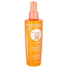 Bioderma Photoderm Bronz ochranný sprej podporující a prodlužující přirozené opálení SPF 30  200 ml