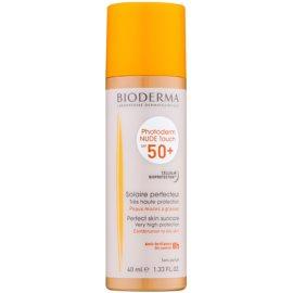 Bioderma Photoderm Nude Touch προστατευτικό τονισμένο υγρό για μικτή εως λιπαρή επιδερμίδα SPF 50+ απόχρωση Golden  40 μλ