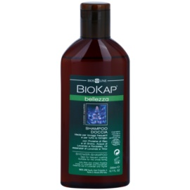 Biokap Beauty šampón a sprchový gél 2 v 1 Rice and Wheat Proteins, Lavender and Cornflower Water 200 ml