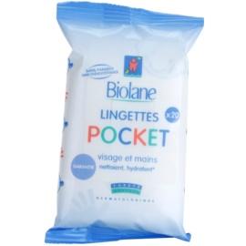 Biolane Baby Hygiene čisticí ubrousky na obličej a ruce  20 ks