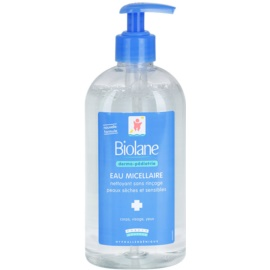 Biolane Dermo-Pediatrics reinigendes Mizellenwasser für trockene und empfindliche Haut  500 ml