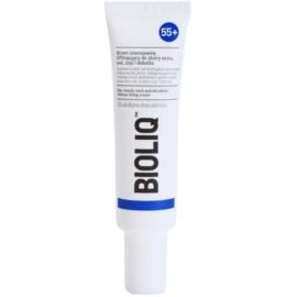 Bioliq 55+ crema de lifting intensa para la piel delicada de contorno de ojos, labios, cuello y escote  30 ml