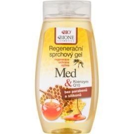 Bione Cosmetics Honey + Q10 gel douche régénérant  260 ml