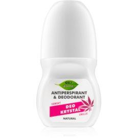 Bione Cosmetics Cannabis dezodorant  roll - on z różanym aromatem  80 ml