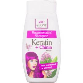 Bione Cosmetics Keratin + Chinin відновлюючий шампунь  260 мл