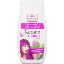 Bione Cosmetics Keratin + Chinin Herstellende Conditioner  voor het Haar   260 ml