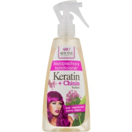 Bione Cosmetics Keratin + Chinin balzam brez spiranja  260 ml