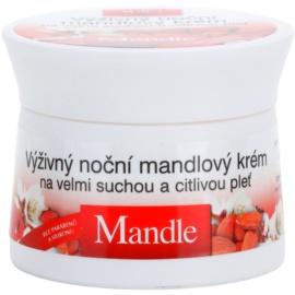 Bione Cosmetics Almonds поживний нічний крем для дуже сухої та чутливої шкіри  51 мл