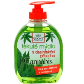 Bione Cosmetics Cannabis антибактеріальне мило для рук  300 мл