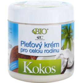 Bione Cosmetics Coconut crème visage pour toute la famille à la noix de coco  260 ml