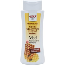 Bione Cosmetics Honey + Q10 leite de limpeza regenerativo  255 ml